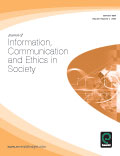 Information and Communication of Ethics in Society